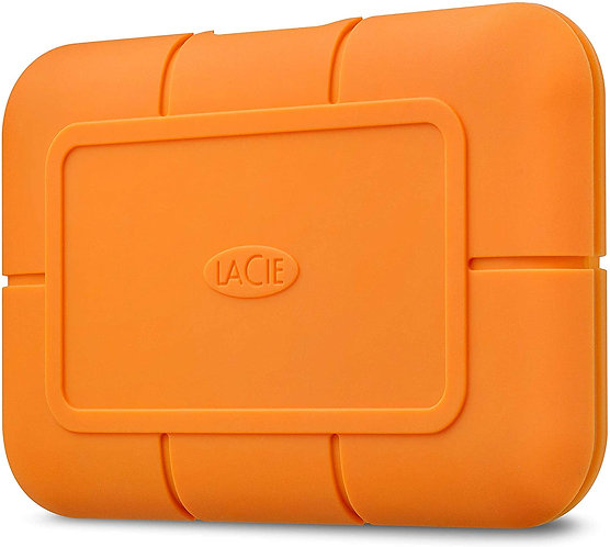 LaCie Rugged SSD 2TB Solid State Drive — USB-C USB 3.2 NVMe speeds up to 1050MB/