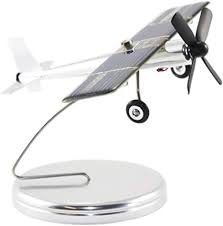 Inpro Solar Aluminum Solar Airplane on Stand