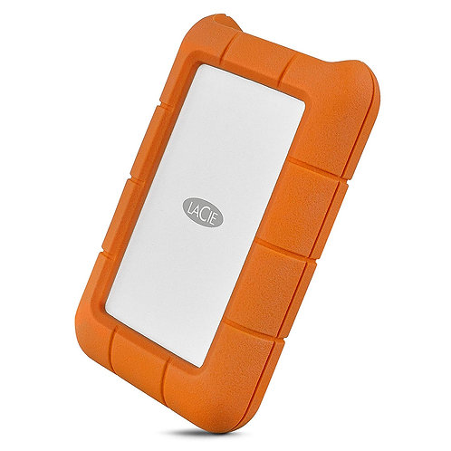 LaCie 5TB Rugged Thunderbolt/USB-C Mobile External Hard Drive, 130MB/s Transfer