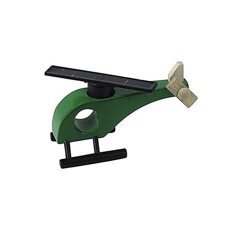 Inpro Solar Wooden Helicopter Green Toy 65354