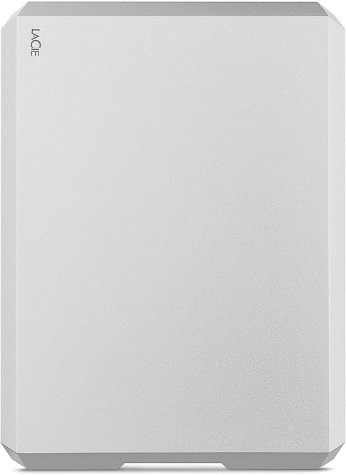 LaCie Mobile Drive 1TB External Hard Drive HDD – Moon Silver USB-C USB 3.0, for