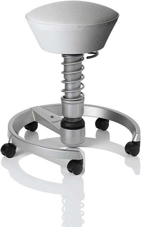 Aeris Swopper Ergonomic Chair White microfibre seat, Titanium Base