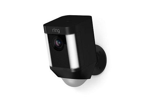 Ring Spotlight Cam Outdoor Camera, Battery Black