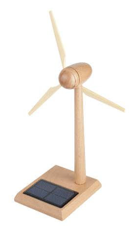 Inprosolar solar wind turbine wood 18 cm 6580
