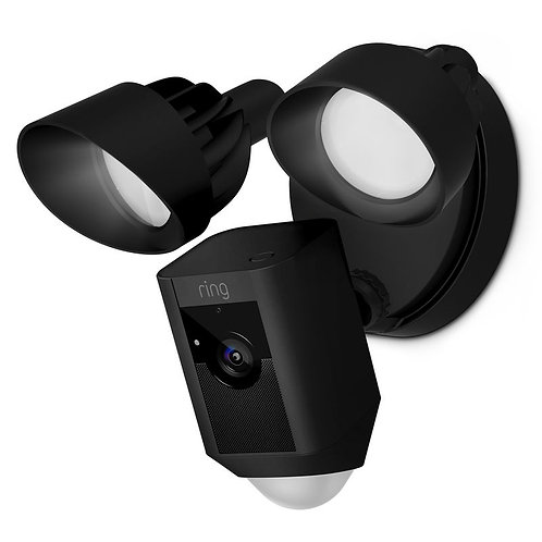 Ring Floodlight Camera Motion-Activated HD Security Cam Black