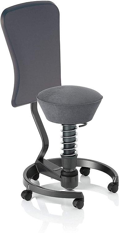 Aeris Swopper Ergonomic Chair Grey Microfibre seat