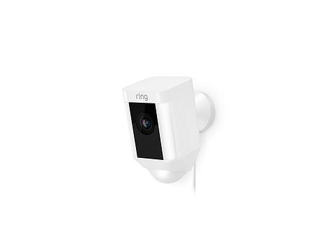 Ring Spotlight Cam Outdoor Camera, Wired White