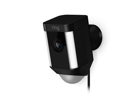 Ring Spotlight Cam Outdoor Camera, Wired Black