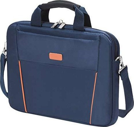 "Dicota Slim Case BASE Laptop Bag 14-15.6"" - Blue/Orange"