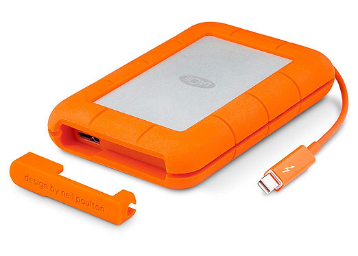 LaCie Rugged Thunderbolt USB 3.0 1TB External Portable HDD
