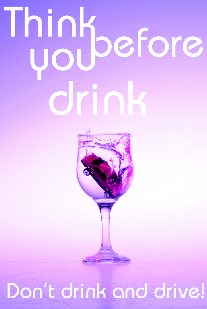 Think before you drink poster