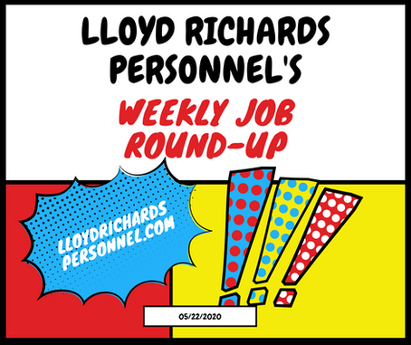 Weekly Staffing Agency Tulsa Jobs Round-Up: May 22, 2020