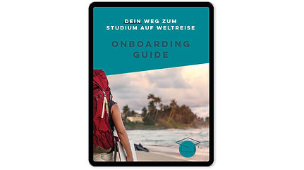 Ansicht Onboarding Guide in Tablet