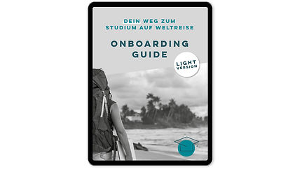 Ansicht Onboarding Guide Light in Tablet