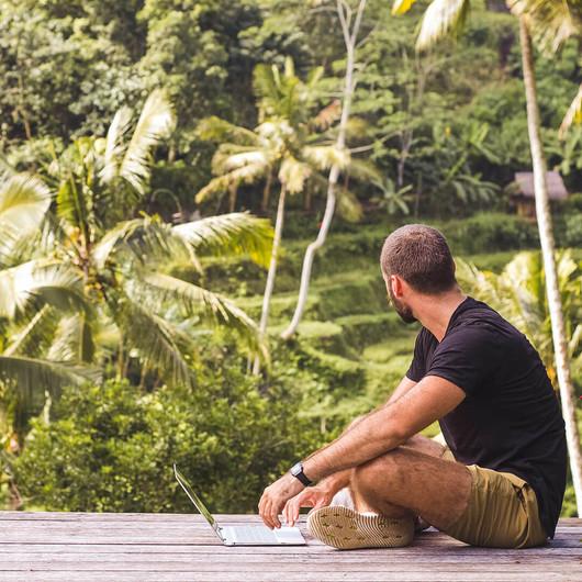 Studium an paradiesischen Orten