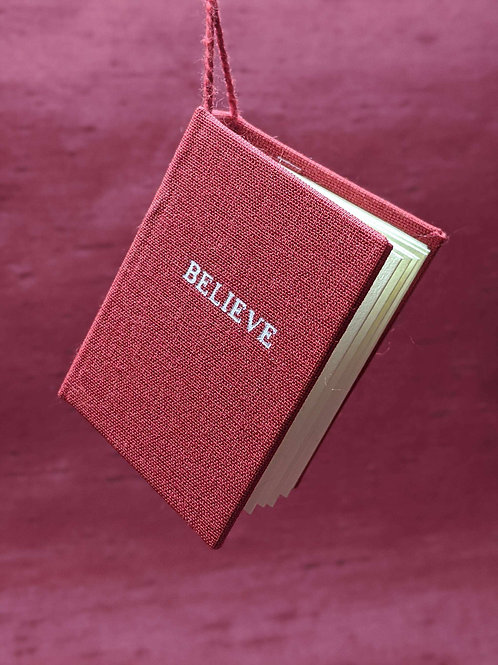 Believe Tiny Book Ornament
