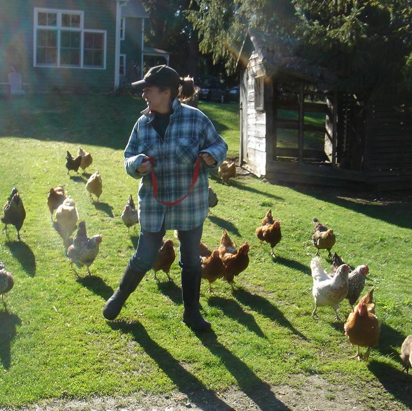 Billie Best on the farm