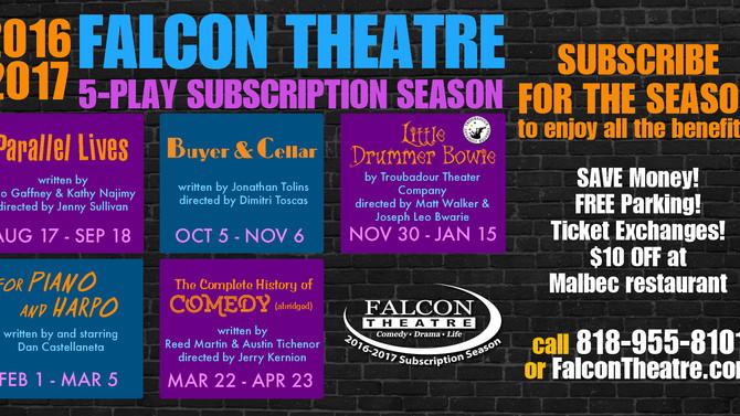 The Falcon Theatre 2016-2017 Season:   A Pop Culture Treasure Trove