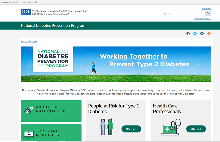 The CDC provides a list of certified diabetes prevention programs.