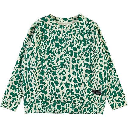 Felpa leopardata verde
