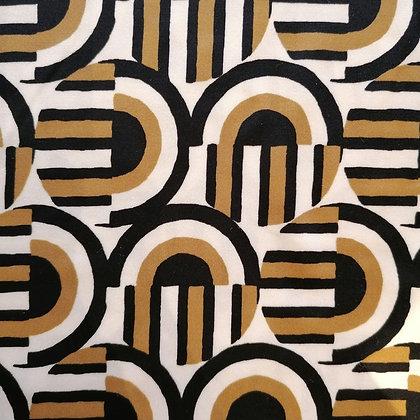 Pantazampa fantasia geometrico oro e nero