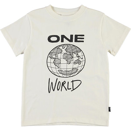 T-shirt panna One world