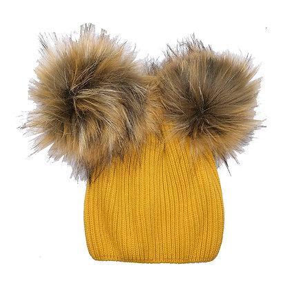 Cappello pon pon giallo