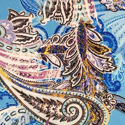 Pantazampa fantasia paisley azzurra