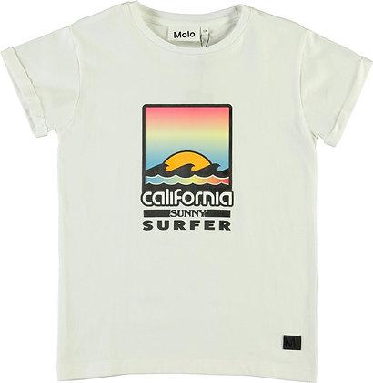 T-shirt bianca california surfer
