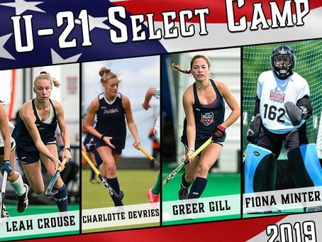 U21 National Camp Selections