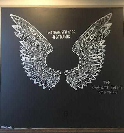 Chalk Mural Wings