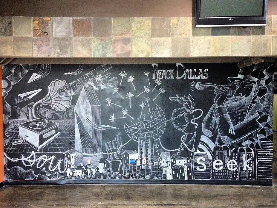 Chalk Mural Fellowship Church Dallas, TX
