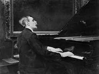 Wilhelm Stenhammar at the piano