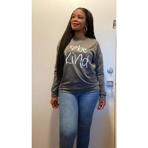 """""""Be Kind"""" Slogan Sweatshirt"""
