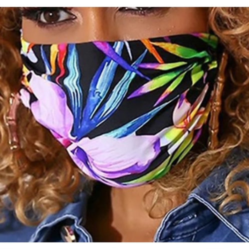 Mask - Tropical Colors Print