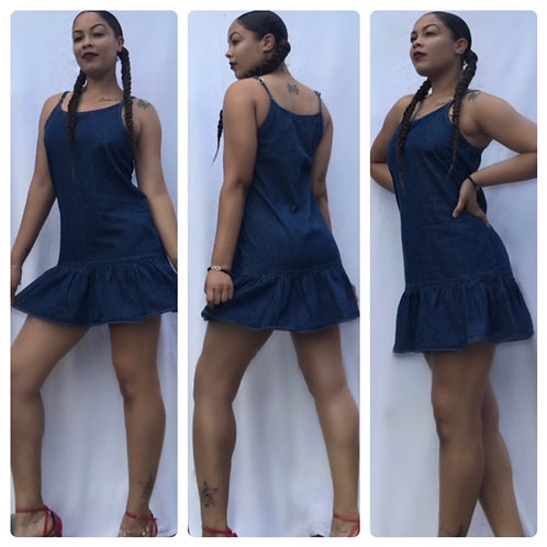 "The ""Ana"" Denim Cami Dress"