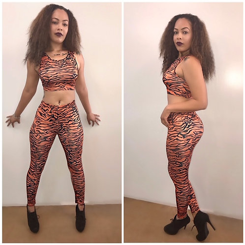 """""""Wild & Out"""" Zebra Tank Top and Matching Pants Set"""