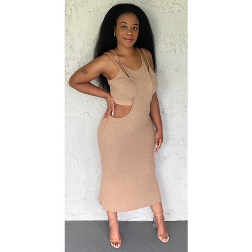 """""""Stepping Out"""" Two Piece Cami Top & Dress"""