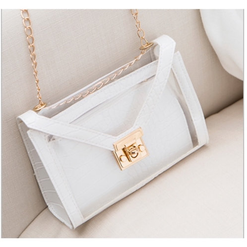 """Dee Dee"" Clear See-through Crossbody Bag"