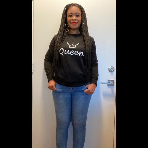 """""""Queen"""" Slogan Sweatshirt"""