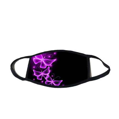 Mask - Butterfly Print Purple Haze