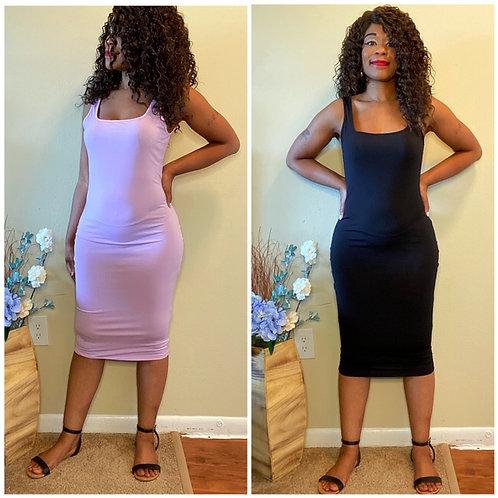 """""""Erika"""" BodyCon Dress w/Straps"""