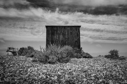 The little metal hut by the sea