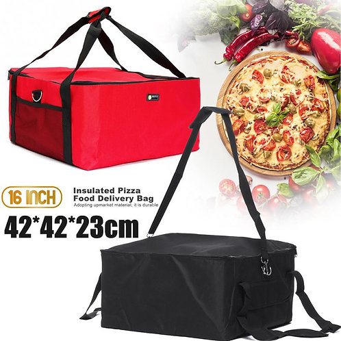 16 Inch Portable Red Strength Thermal Desserts Delivery Bag
