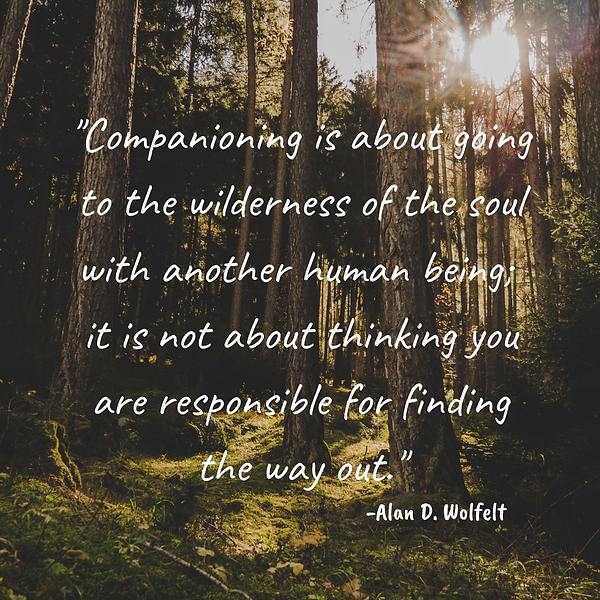 Companioning is about going to the wilde