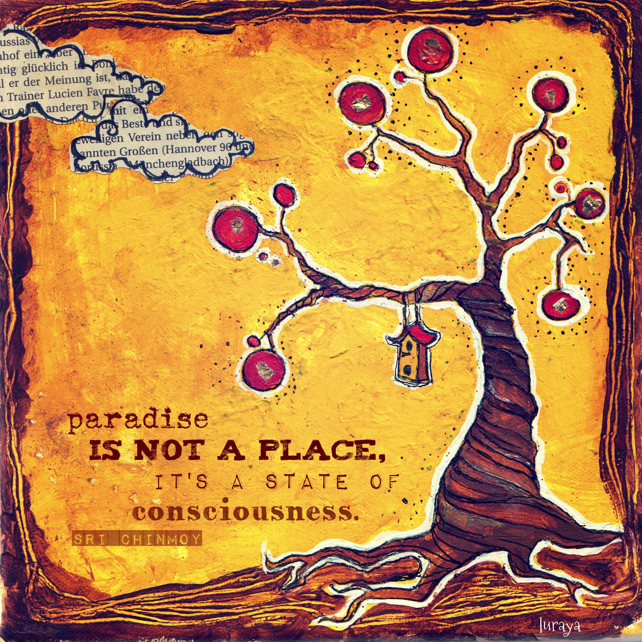 paradise tree acrylics