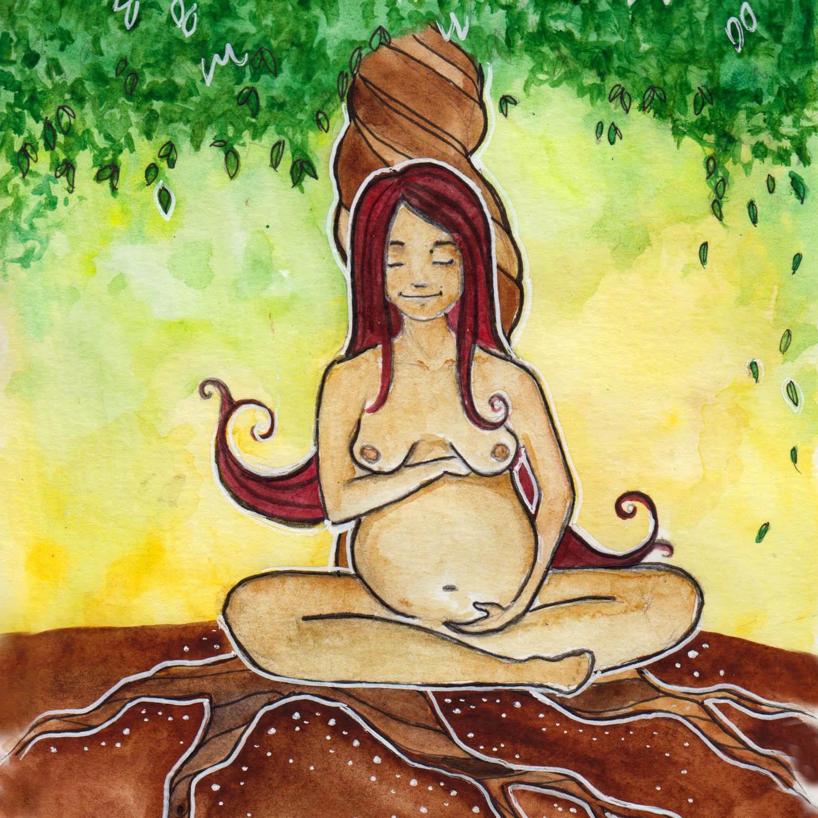 pregnant woman art