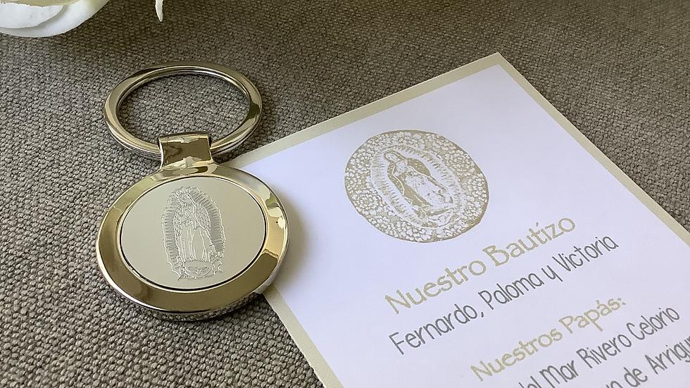 LLAVERO PLATEADO VIRGEN DE GUADALUPE