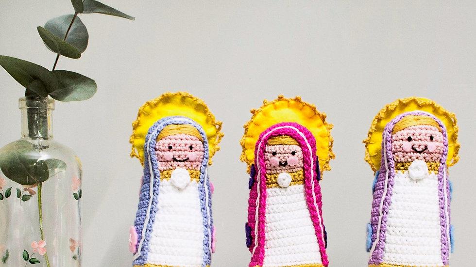 Virgen y Angel tejidos