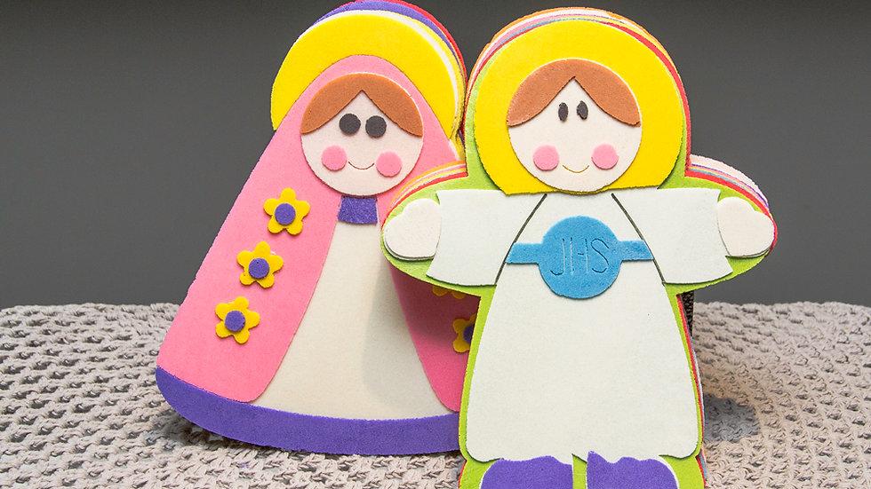 Obleas Jesús y Virgencita